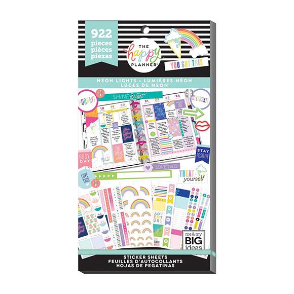 ספר מדבקות Happy Planner - Neon Lights