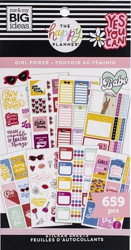 ספר מדבקות - Happy Planner Sticker Value Pack - Girl Power