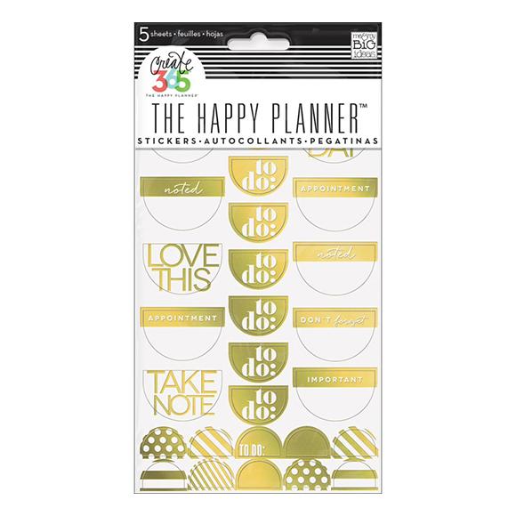 מדבקות Happy Planner - Take Note Gold Foil