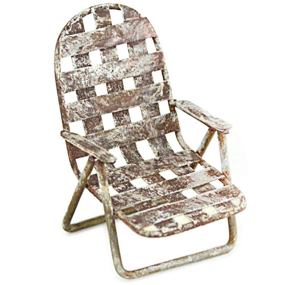 כיסא מיניאטורה - Fairy Garden Lawn Chair
