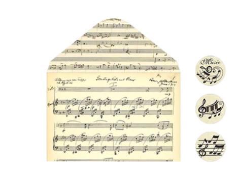 מעטפות פרגמנט - תווי נגינה