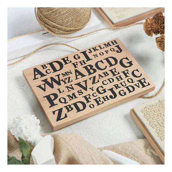 חותמת עץ - Alphabet