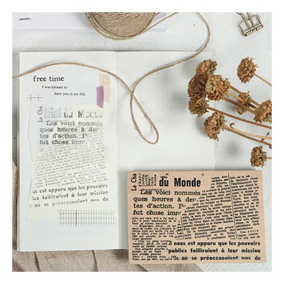 חותמת עץ - Old newspaper