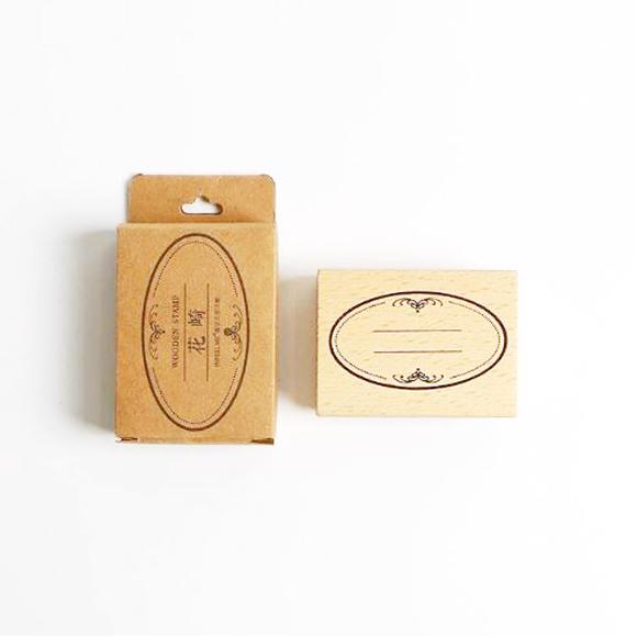 חותמת עץ - מסגרת אובלית