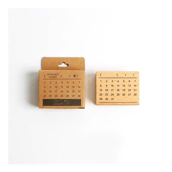חותמת עץ - Monthly calendar