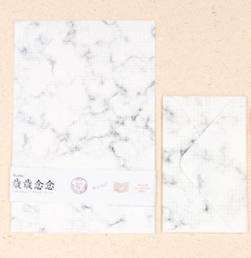 נייר מכתבים מעוצב - שיש משבצות