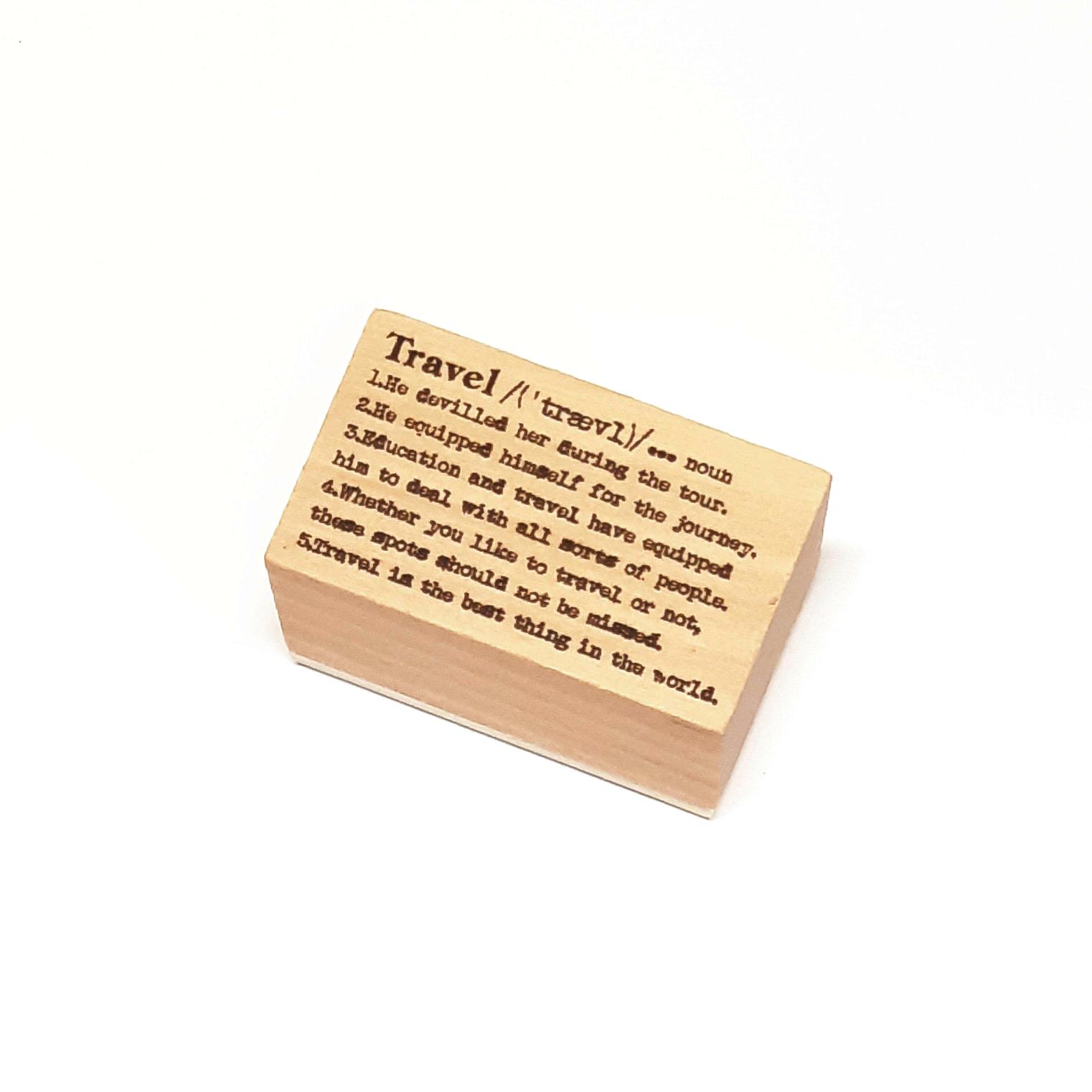 חותמת עץ - Travel