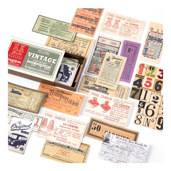 מדבקות - Vintage coupon label