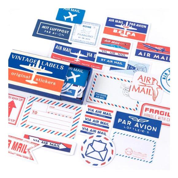מדבקות - Vintage air mail label