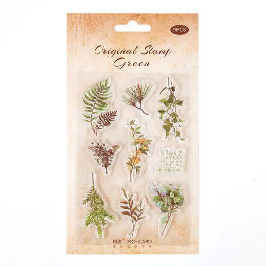 סט חותמות סיליקון - Natural leaves