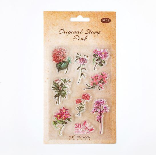 סט חותמות סיליקון - Natural flowers