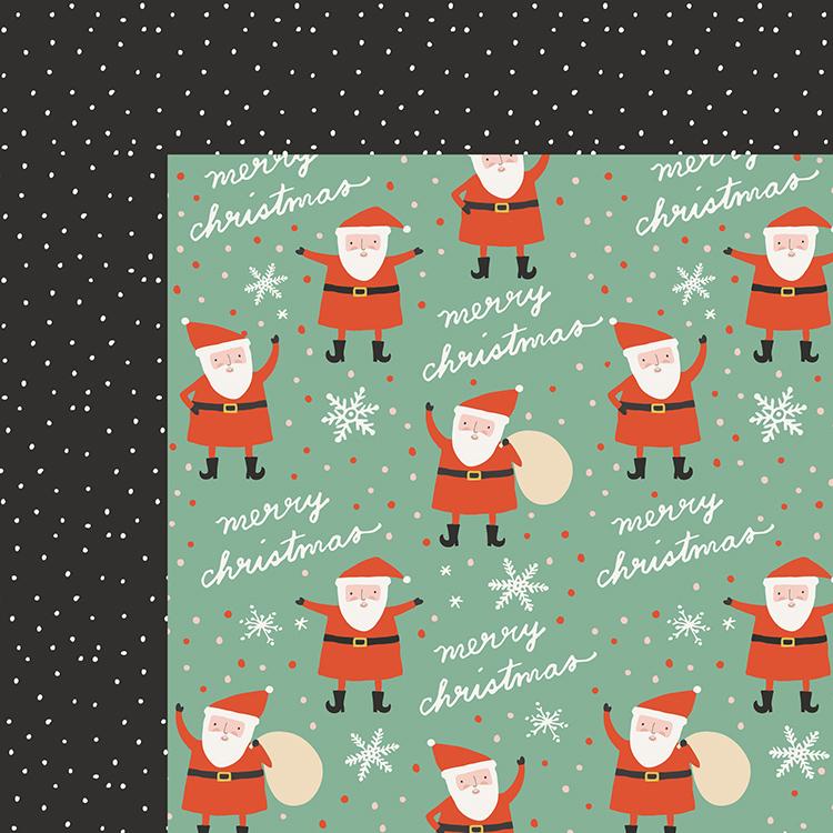דף קארדסטוק דו צדדי - OH WHAT FUN - Santa