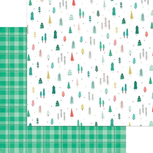 דף קארדסטוק דו צדדי - Jingle All The Way - Through The Woods