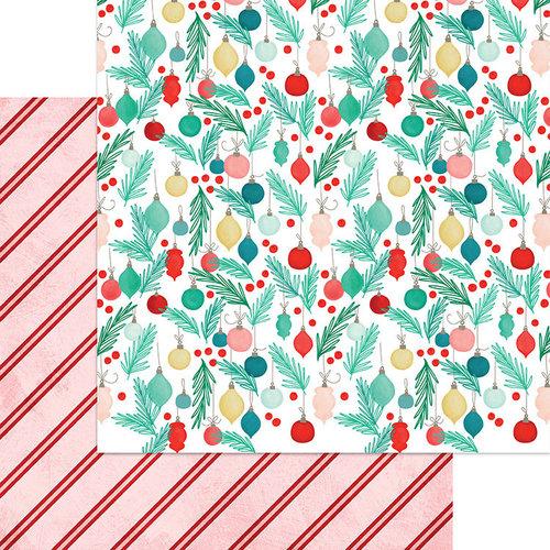 דף קארדסטוק דו צדדי - Jingle All The Way - Ornaments Galore