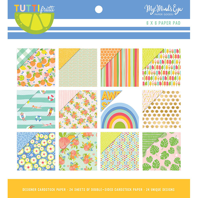 "מארז דפי קארדסטוק ""6 Tutti Frutti Collection Paper Pad"