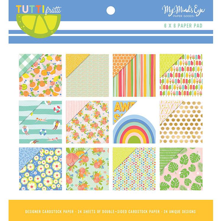 "מארז דפי קארדסטוק ""6 Tutti Frutti Collection Paper Pad"