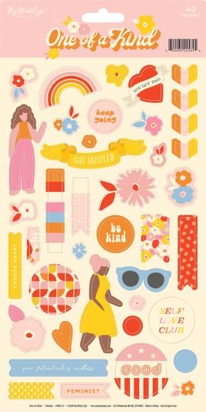 מדבקות קארדסטוק One of a Kind Collection - Sheet