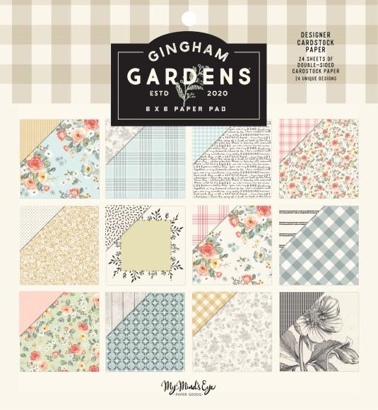 """מארז דפי קארדסטוק """"6 Gingham Gardens Collection"""