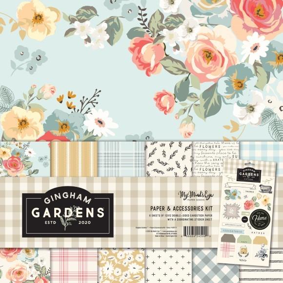 """מארז דפי קארדסטוק """"12 Gingham Gardens Collection"""