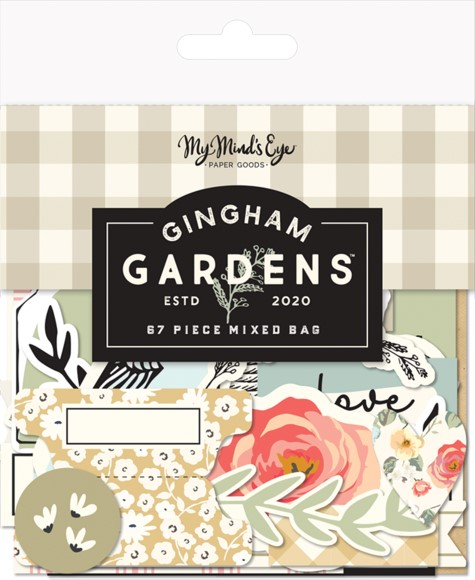 חיתוכי קארדסטוק Gingham Gardens - Mixed Bag