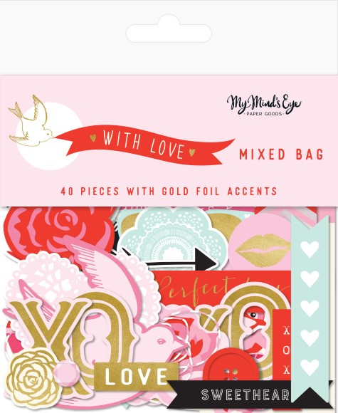 חיתוכי קארדסטוק With Love Collection - Mixed Bag