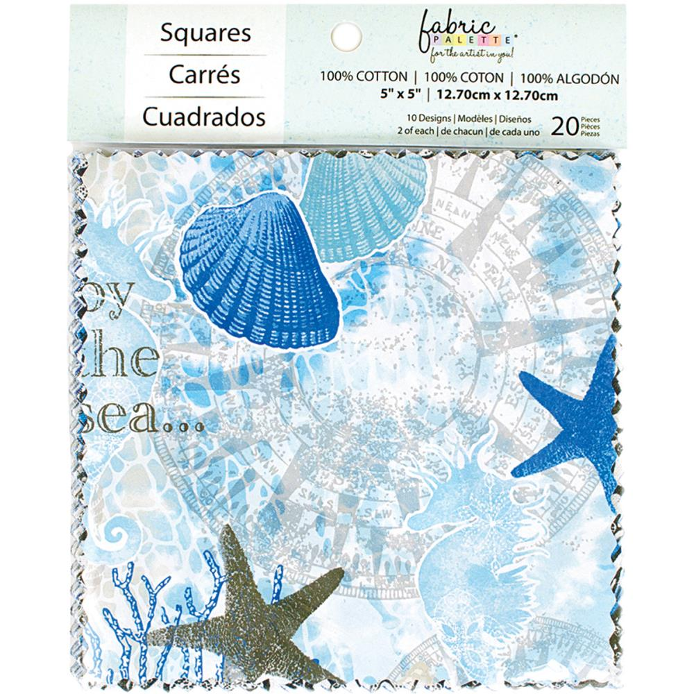 "Fabric Palette Charm Pack 5""X5"" 20Pkg - Southport"