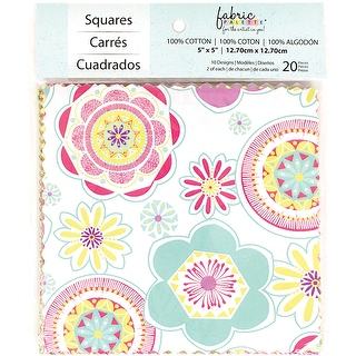 "Fabric Palette Charm Pack 5""X5"" 20Pkg - Popsicle II"