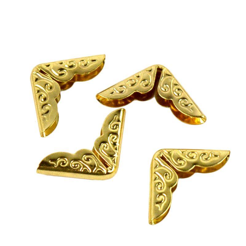 פינות מתכת - מיני זהב עם עיטור מסולסל
