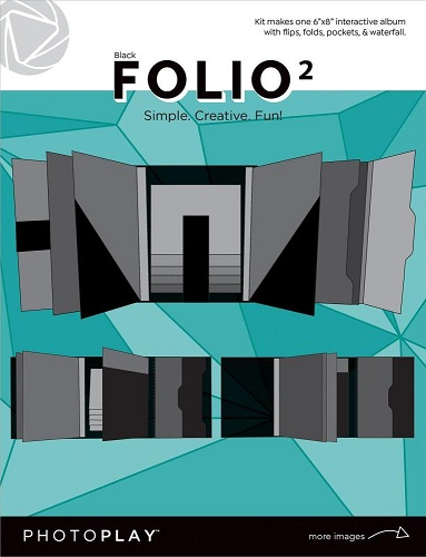"""אלבום תיקייה שחור 6""""*8"""" - קיט - PhotoPlay Folio"""