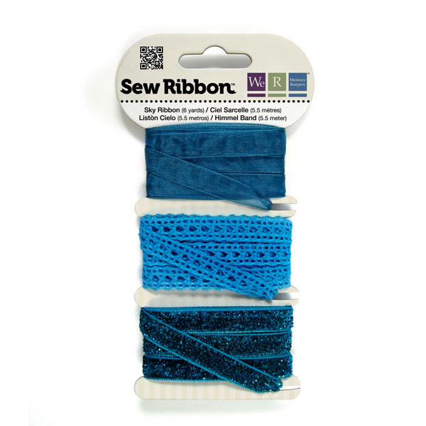 מארז סרטי בד - Sew Ribbon - Ribbon Set Sky