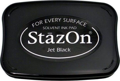דיו יבש StazOn Solvent Ink Pad - Jet Black