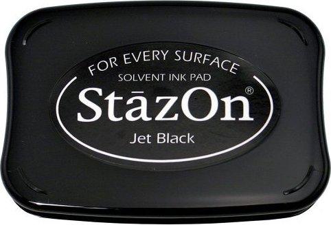 דיו יבש StazOn Solvent Ink Pad - Jet Black