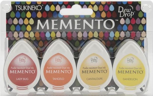 מארז דיו ממנטו - גוון חם - Memento Dew Drop Dye