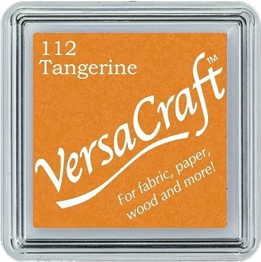 כרית דיו לבדים - VersaCraft Small Ink Pad - Tangerine