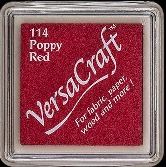 כרית דיו לבדים - VersaCraft Small Ink Pad - Poppy Red