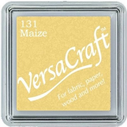 כרית דיו לבדים - VersaCraft Small Ink Pad - Maize