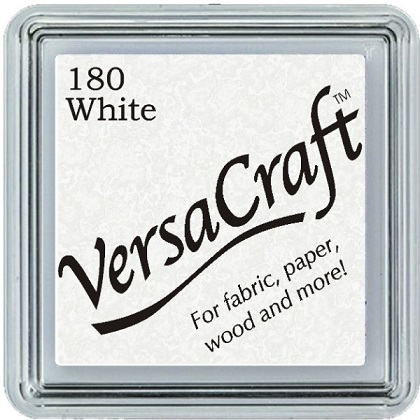 כרית דיו לבדים - VersaCraft Small Ink Pad - White