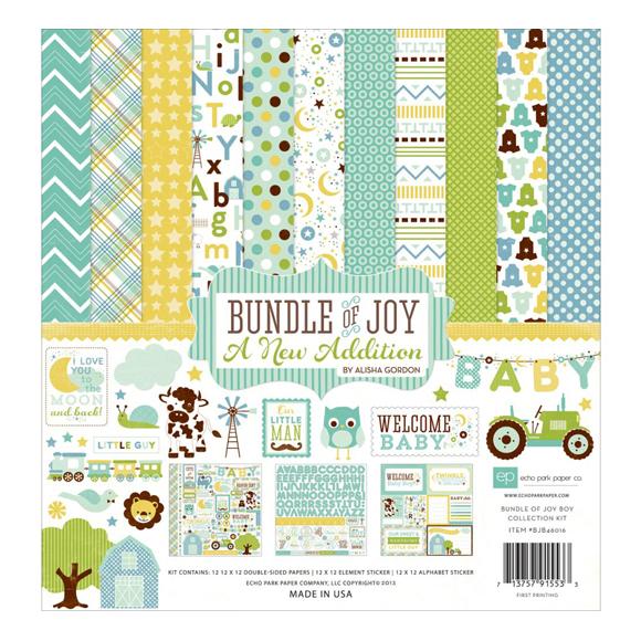 """מארז דפי קארדסטוק """"12 Bundle Of Joy Kit"""