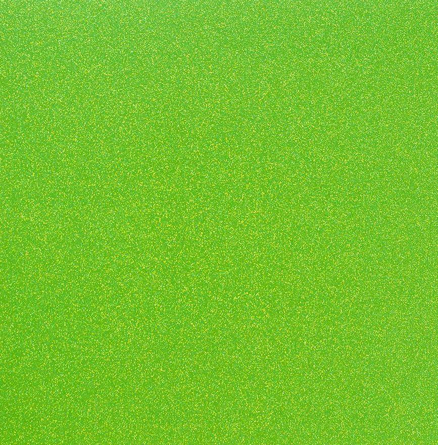 דף קארדסטוק מנצנץ - Glitter Paper - Neon Green