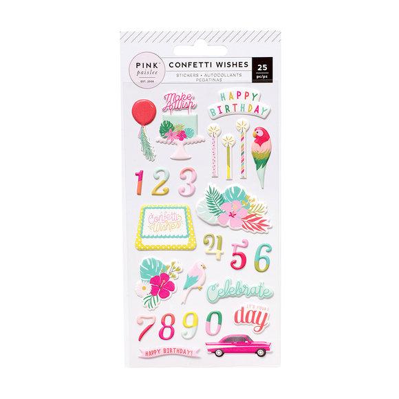 מדבקות פאף - Confetti Wishes Collection
