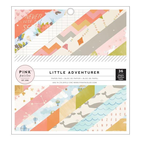 """מארז דפי קארדסטוק """"6 Little Adventurer Girl"""