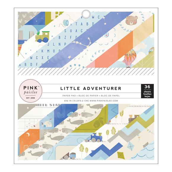 "מארז דפי קארדסטוק ""6 Little Adventurer Boy"