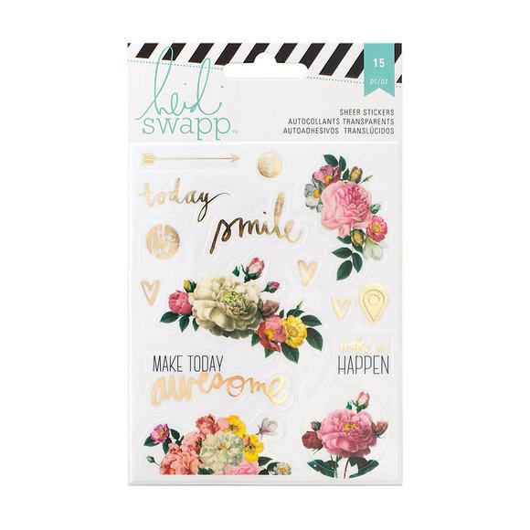 מדבקות שקופות Memory Planner - Floral