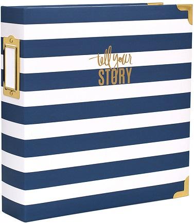 """אלבום 8.5""""*11"""" - Storyline Collection - Blue Stripe"""