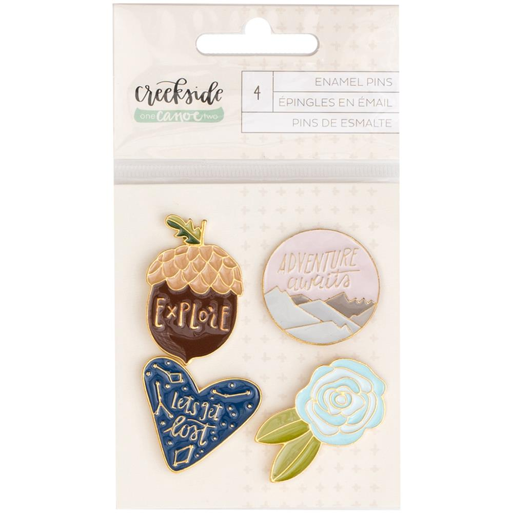 Creekside Enamel Pins 4/Pkg
