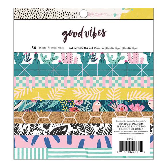 """מארז דפי קארדסטוק """"6 Good Vibes Collection"""