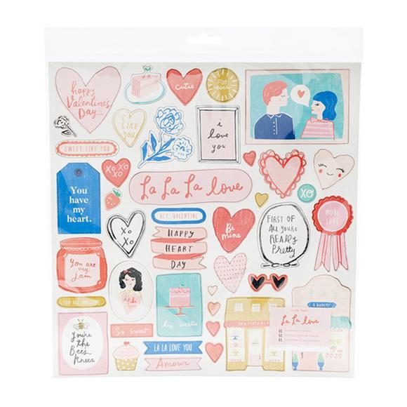 מדבקות צ'יפבורד - La La Love Collection