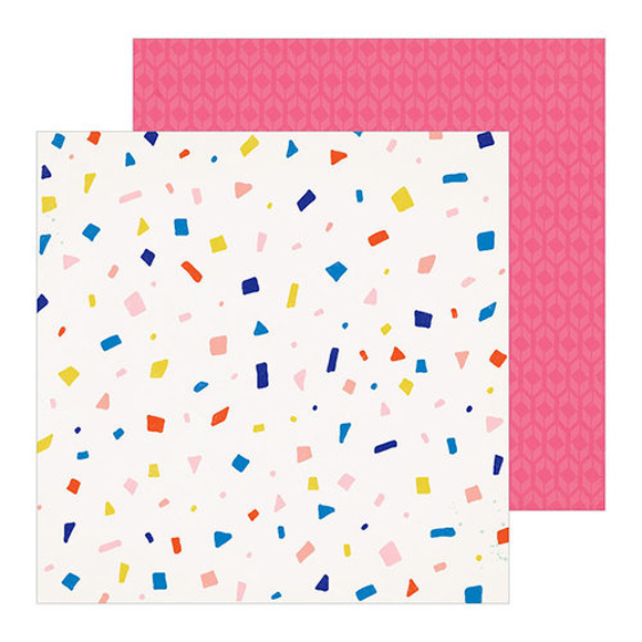 דף קארדסטוק - Confetti