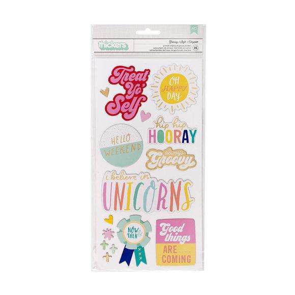 מדבקות צ'יפבורד Stay Colorful Collection - Groovy