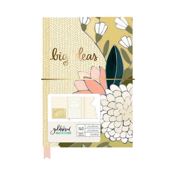 יומן מחברת Goldenrod Collection - Floral Die Cut